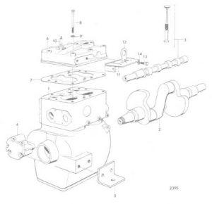 cilinderblok MB10a, krukas